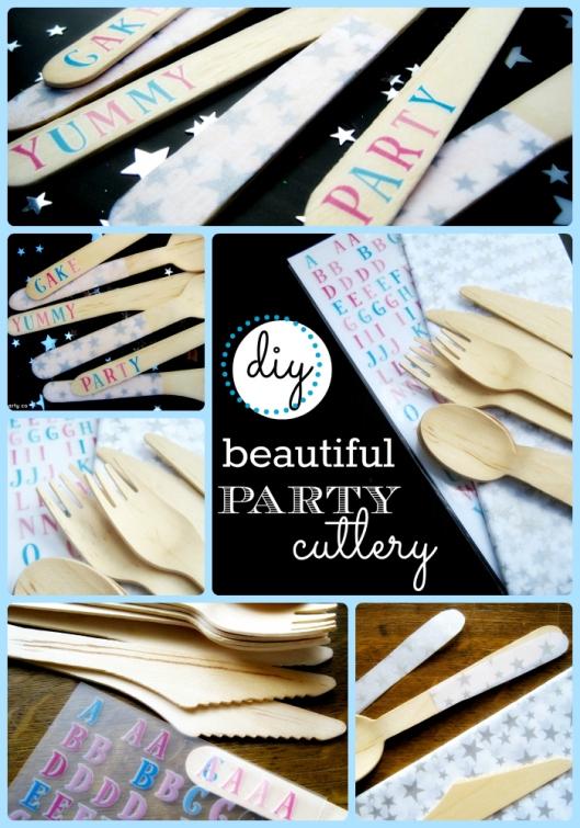 diy party cutlery colleage